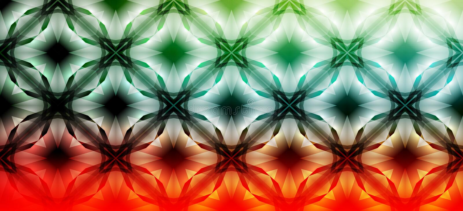 Green and red abstract pattern background vector design stock abbildung