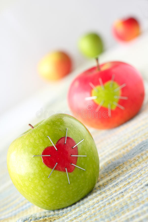 Green And Red Apple Royalty Free Stock Image