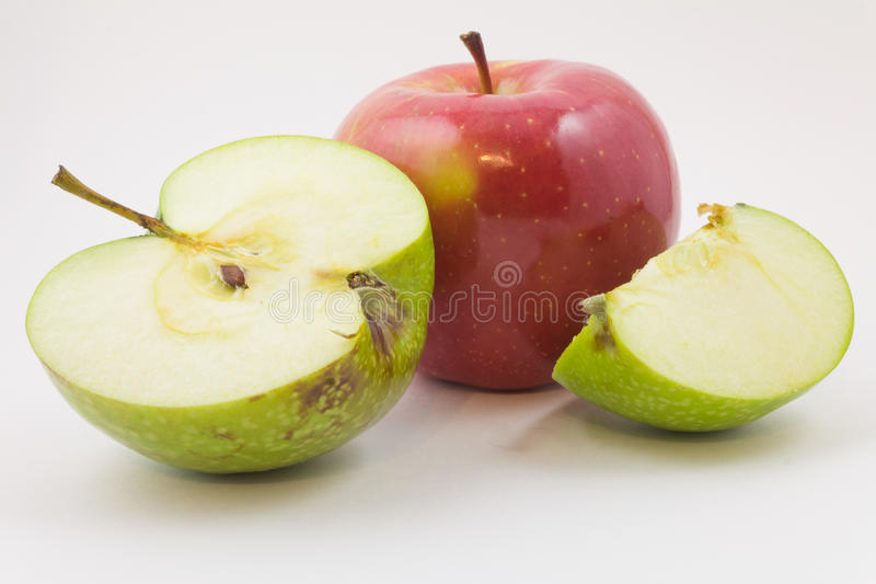 Green and red apples royalty free stock image