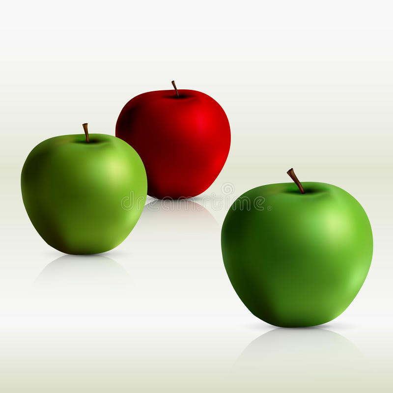 Download Green And Red Apples - Vector File Added Stock Vector - Image: 12274186