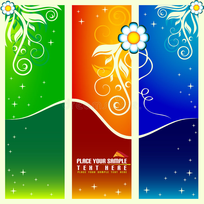 Green, red and blue background stock illustration