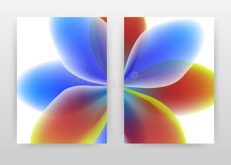 Green red blue flower petal concept. Abstract design of annual report, brochure, flyer, poster. Blue red flower background vector. Illustration for flyer vector illustration