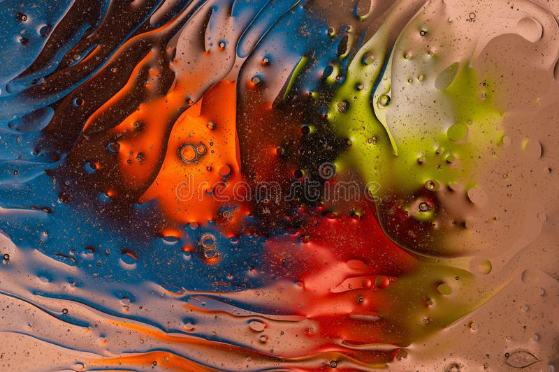 Green, red, blue, orange, black, yellow colorful abstract design, texture. Beautiful backgrounds. stock photography