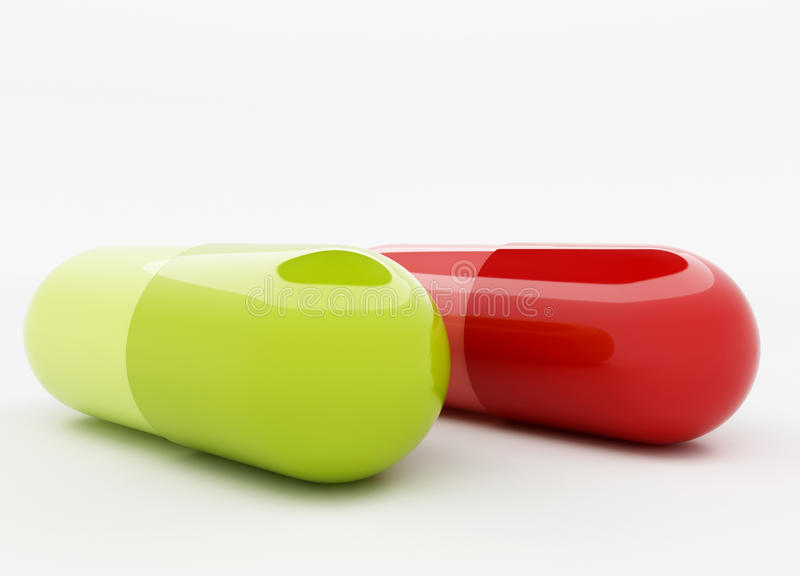 Download Green and red capsule stock illustration. Image of drug - 26198134