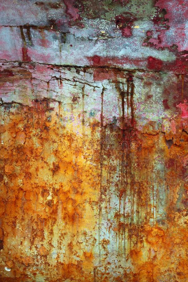 Green and red grunge aged paint wall texture royalty free stock image