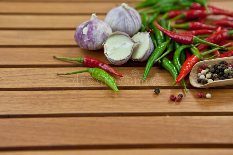 Green And Red  Hot Chili Peppers Stock Image