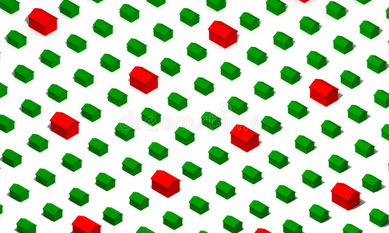 Download Green and Red Houses stock illustration. Illustration of pattern - 24054078
