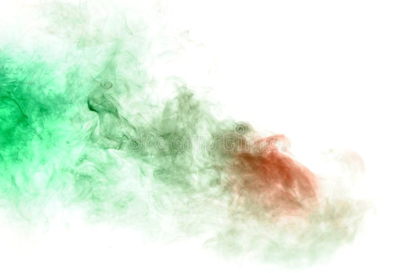 Green and red smoke on a white. Print for clothes. Disease and viruses. Green and red smoke on a white background. Print for clothes. Disease and viruses royalty free stock images