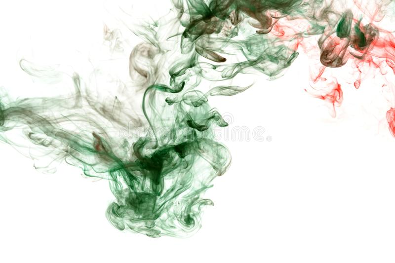 Green and red smoke on a white. Print for clothes. Disease and viruses. Green and red smoke on a white background. Print for clothes. Disease and viruses stock images