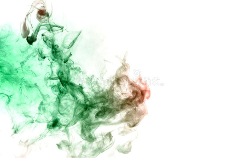 Green and red smoke on a white. Print for clothes. Disease and viruses. Green and red smoke on a white background. Print for clothes. Disease and viruses stock photos