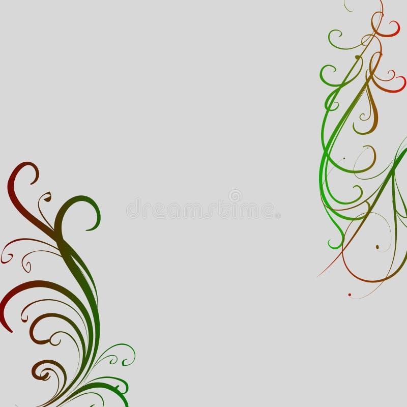 Free Green Red Swirls On Grey Background Stock Photos - 22613073