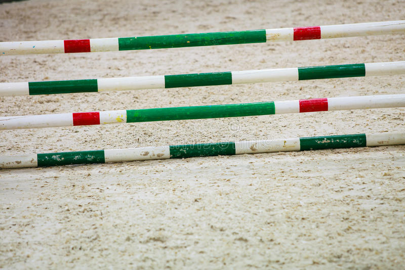 Download Green Red White Obstacle For Jumping Horses. Riding Competition. Stock Photo - Image: 39507813