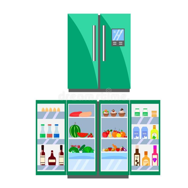 Green refrigerator stock illustration. Illustration of ...