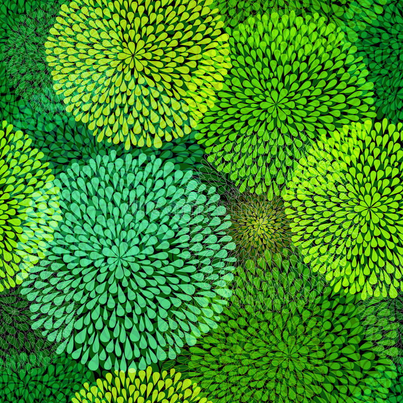 Green Repetitive Pattern Royalty Free Stock Photo