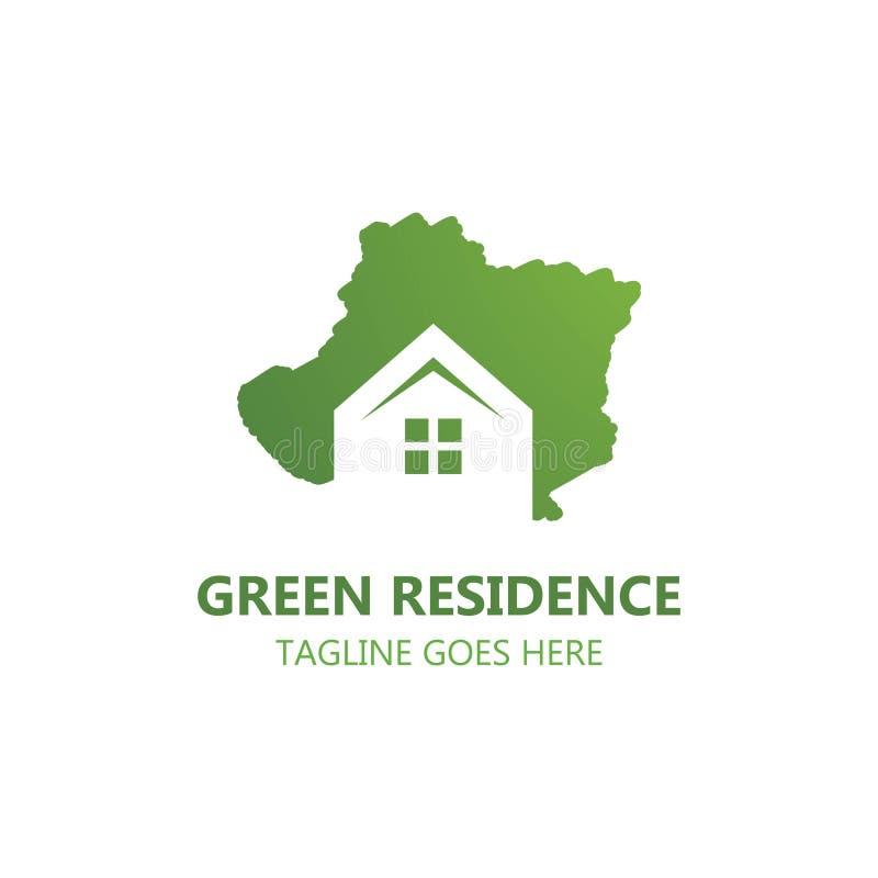 Green Residence logo vector vector illustration