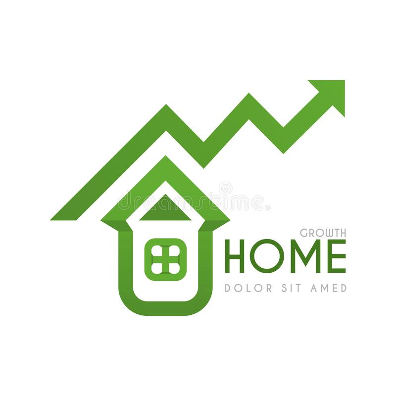 Free Green Residential Home Logo With High Financial And Profit Guarantees.eco-friendly Green Home Logo With High Investment Profit Stock Photos - 114230823