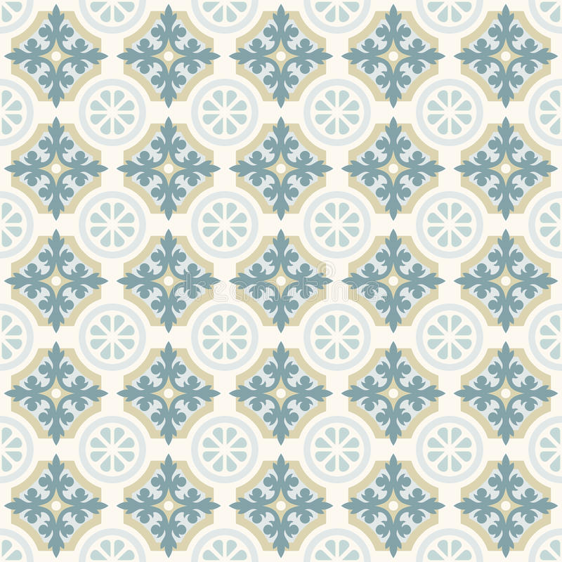 Free Green Retro Floor Tiles Patern Royalty Free Stock Photography - 73331707