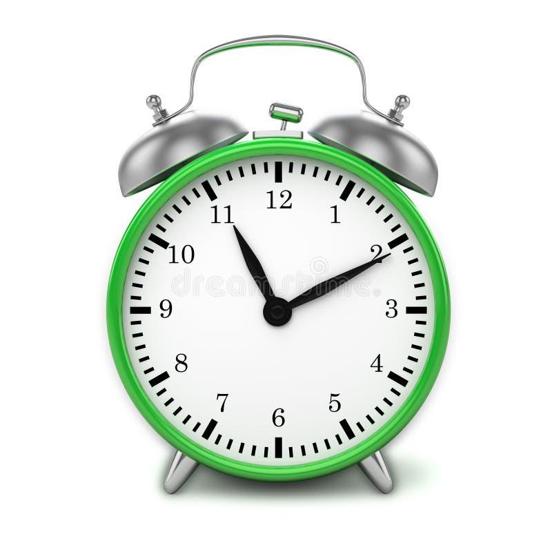 Free Green Retro Styled Classic Alarm Clock Isolated Stock Photos - 42363413