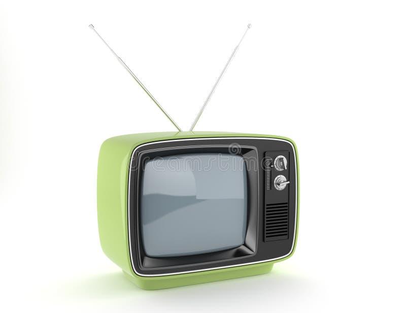 Green retro TV vector illustration