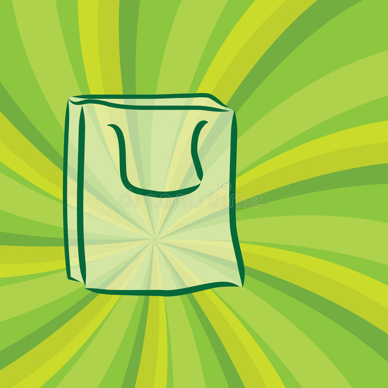 Download Green reusable bag stock vector. Image of green, isolated - 18856756