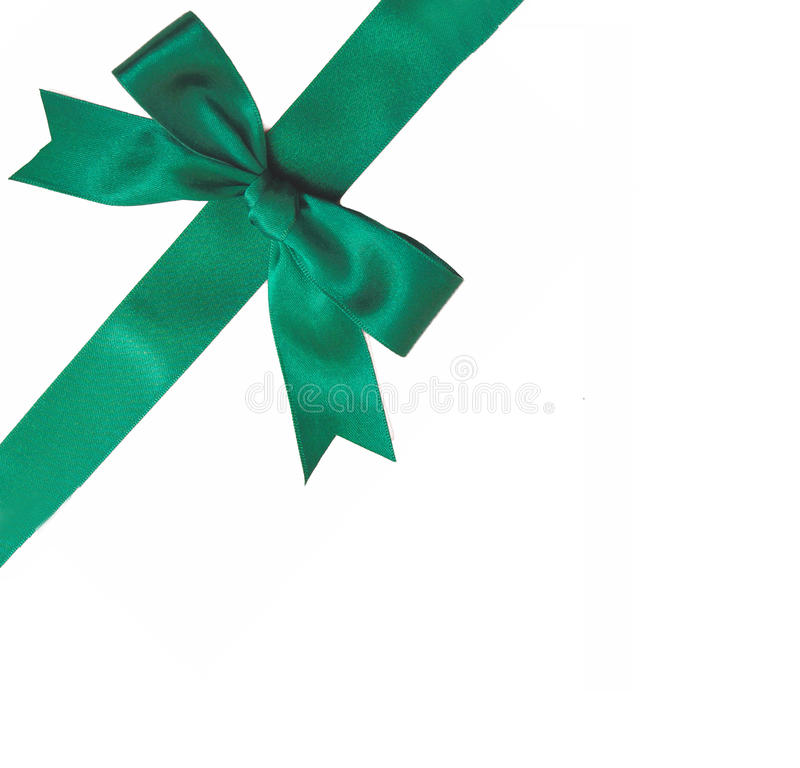 Download Green ribbon bow stock photo. Image of package, party - 12133988