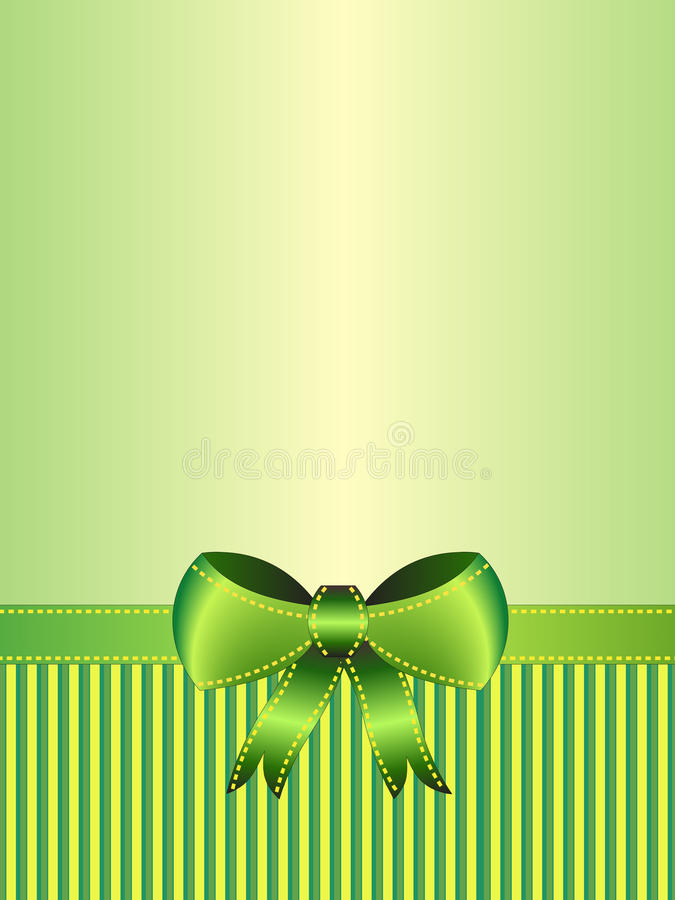 Green ribbon card stock image