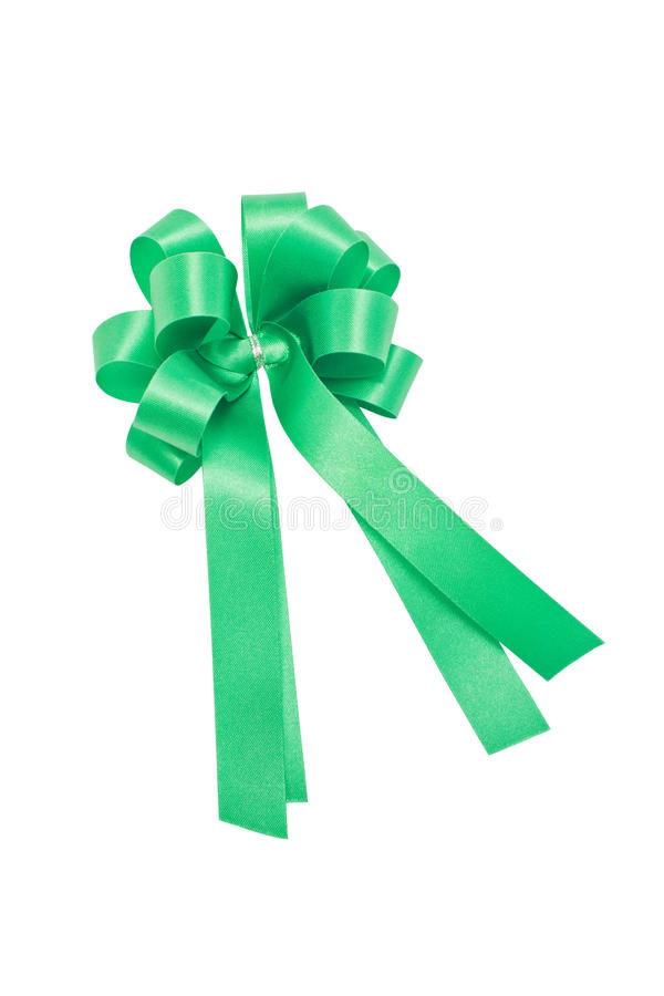 Green Ribbon. royalty free stock image