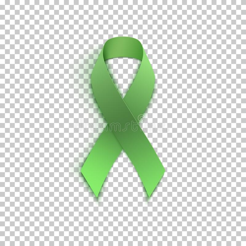 Free Green Ribbon On Transparent Background. Royalty Free Stock Image - 101994846