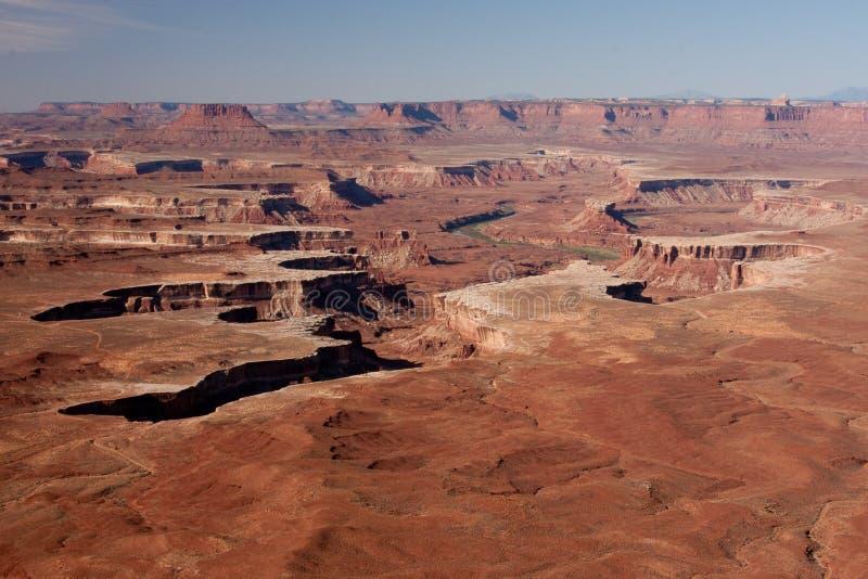 Green River übersehen bei Canyonlands stockfotos