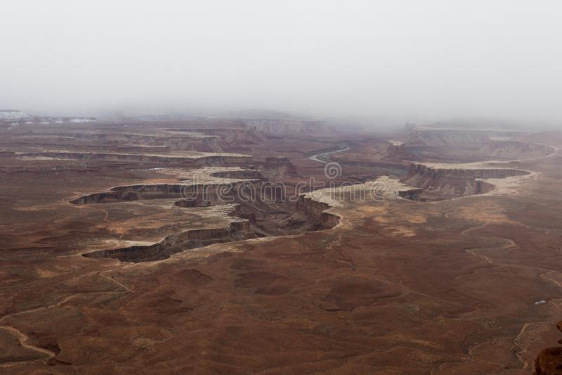 Green River übersehen, Nationalpark Canyonlands stockfotos