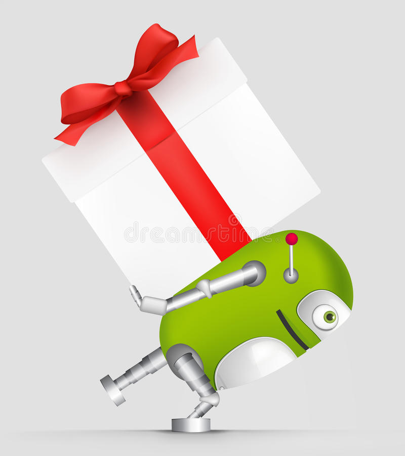 Download Green Robot stock vector. Image of cartoon, illustration - 31073136