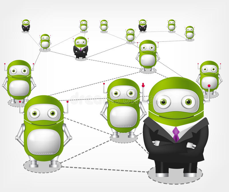 Green Robot stock illustration