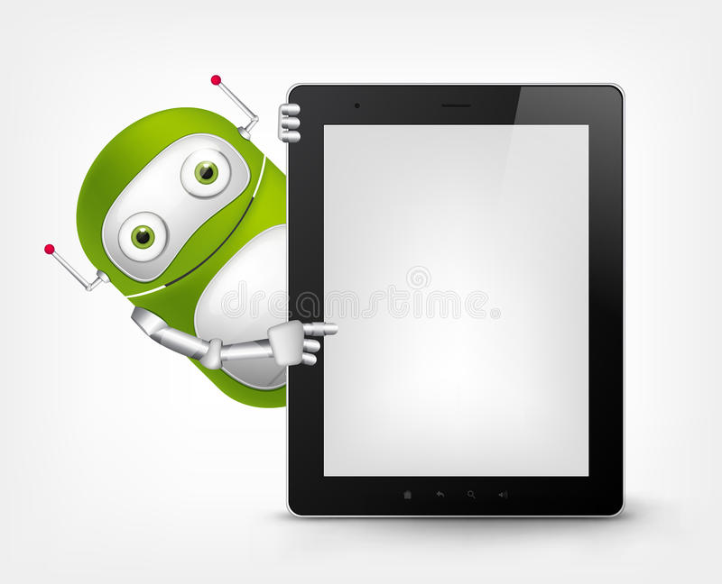Green Robot royalty free illustration