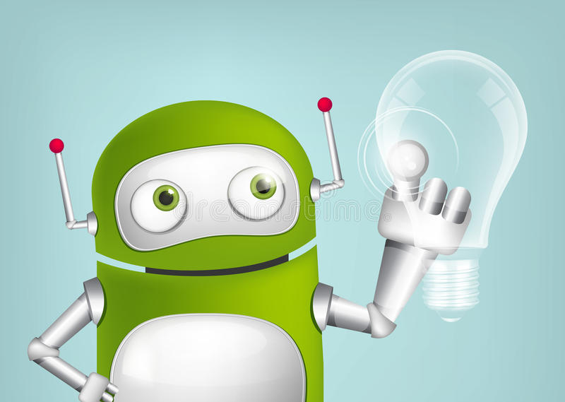Green Robot vector illustration