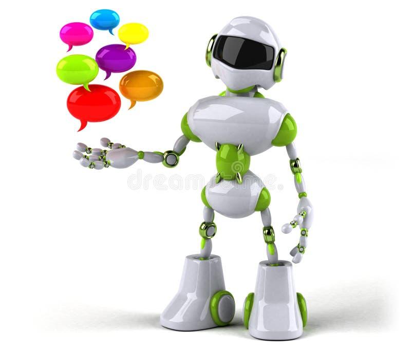Green robot - 3D Illustration stock illustration