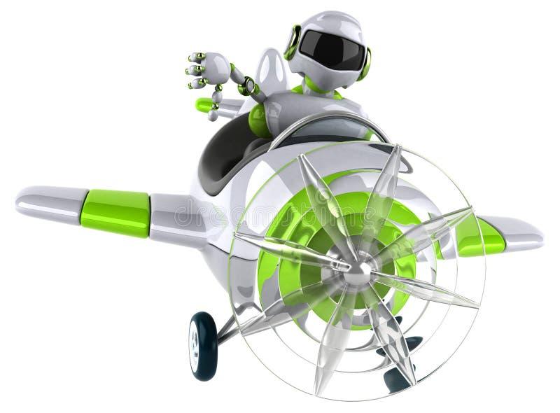 Green robot - 3D Illustration vector illustration