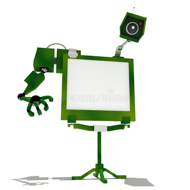 Download Green robot television stock illustration. Image of robot - 7468381