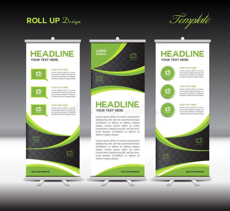 Green Roll Up Banner template vector illustration vector illustration