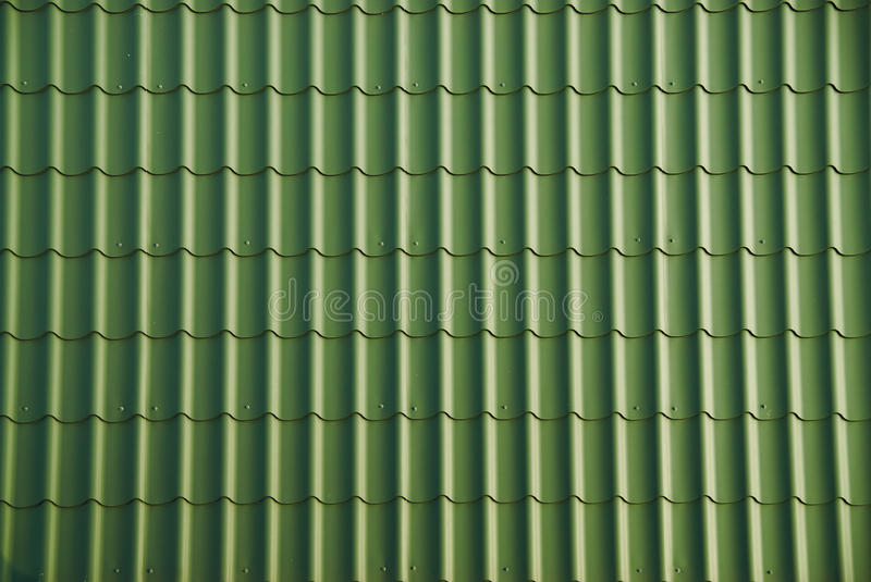 Green roof tile. Background from green roof tile royalty free stock photos