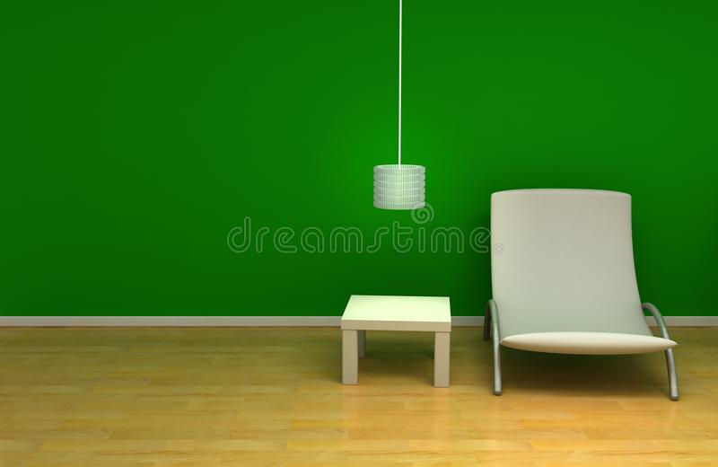 Green room stock image