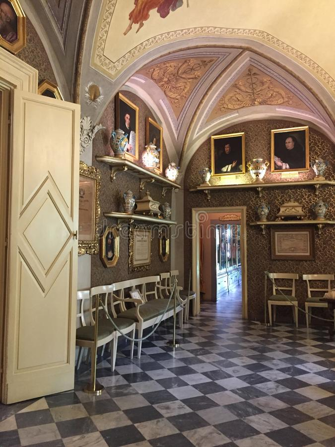 Green Room of the Pharmacy of Santa Maria Novella, Florence imagem de stock