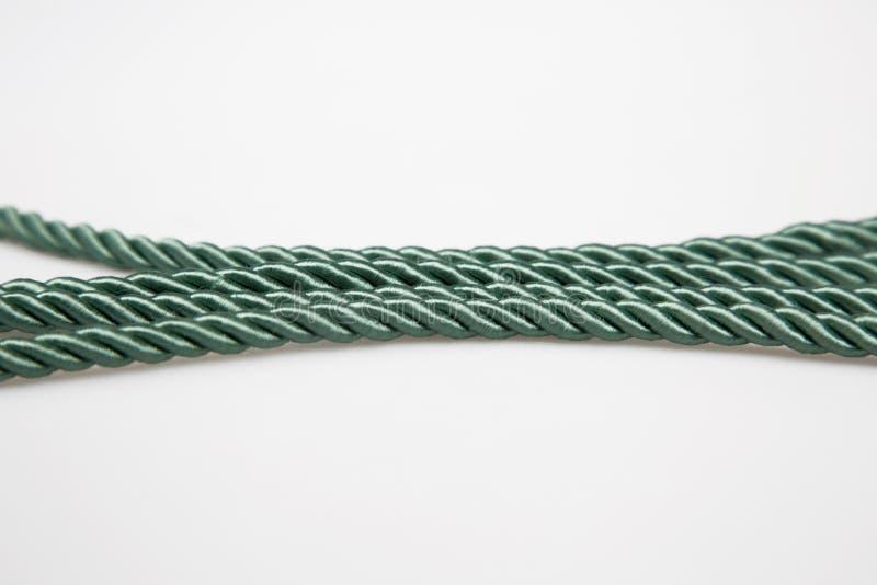 Green ropes royalty free stock photos