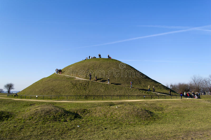 Green round hill royalty free stock photo
