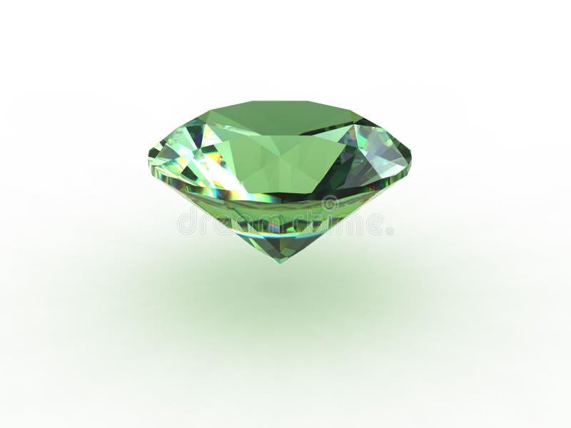 Green Round Topaz Gemstone stock illustration
