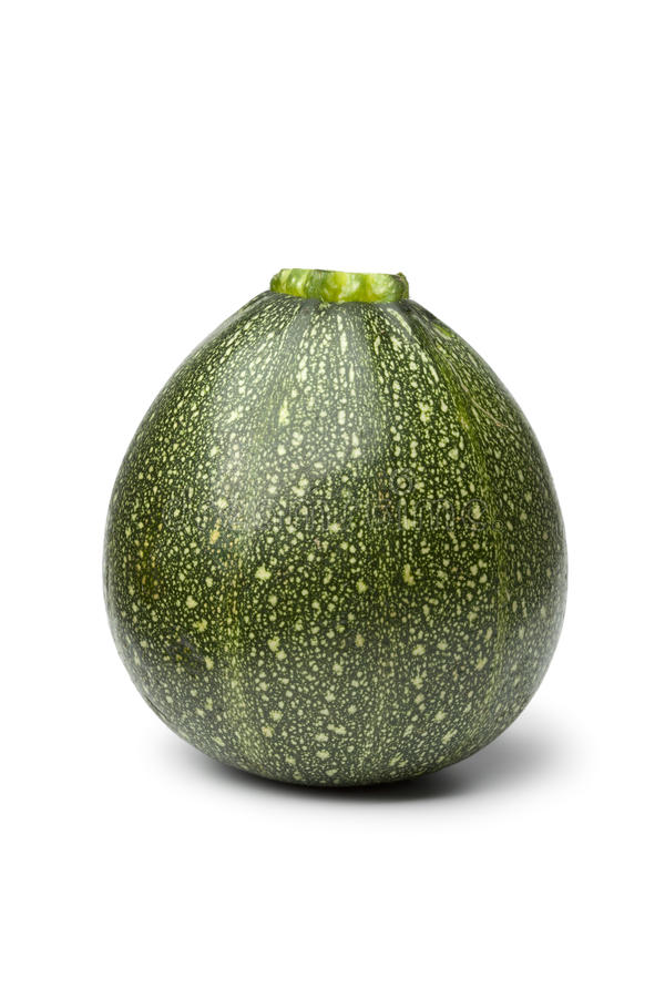 Single Round Green Courgette Stock Photo - Image of ...