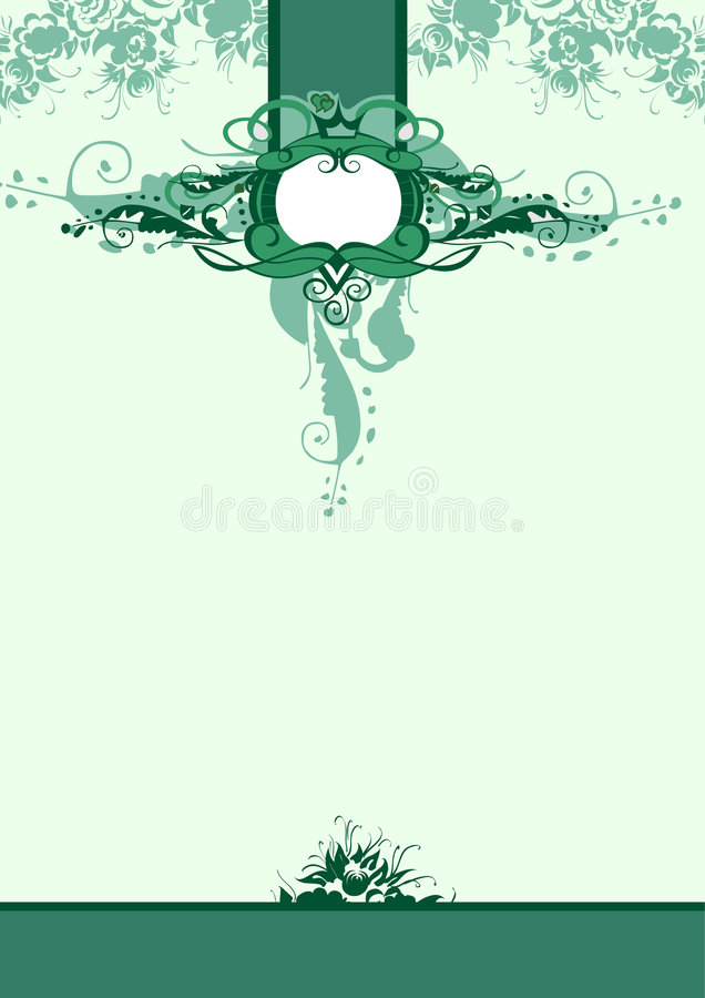Green royal background stock illustration
