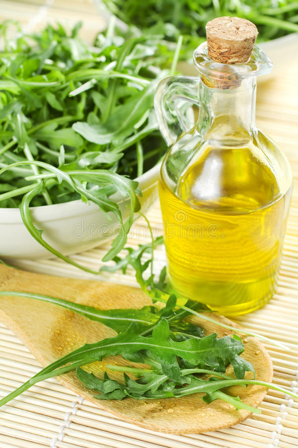 Download Green Rucola Leaves stock photo. Image of bottle, close - 13289656