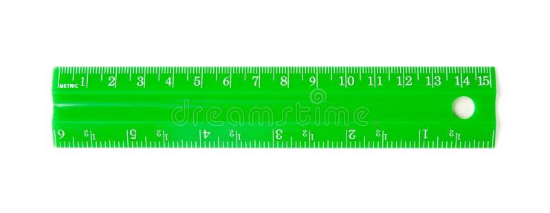 Green ruler royalty free stock photo