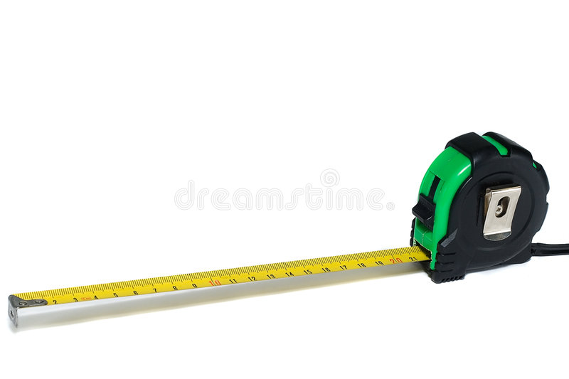 Green ruler isolated on white. Background royalty free stock images