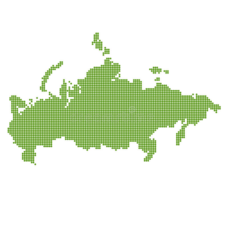 Green russia map dotted royalty free stock photography